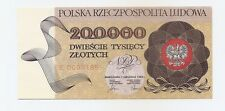 Poland 200 000 zloty 1.12.1989 P-155 UNC series R 0350078