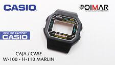 VINTAGE CASE/CAJA CASIO ORIGINAL W-100- H-110 MARLIN NOS  - sin botones