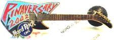 Hard Rock Cafe Pinaversary Event Pin Guitar Blue / Black 2002 HRC NEW LE # 12326