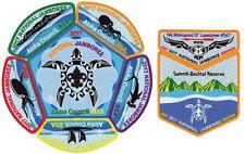 2017 Jamboree Aloha Council Hawaii Patch OA Set Na Mokupuni O Lawelawe Lodge 567