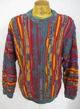 Mens Distressed Vintage 3D COOGI Biggie Hip Hop Cosby Cotton Sweater Medium M