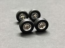 JDM Long Axle RUBBER,TIRE,REAL RIDER R068 Hot Wheels 1//64 SET /> Blacks Dish