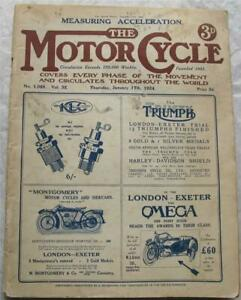 Motor Cycle 17 Jan 1924 Motorcycle Magazine Norton 490 road test BSA 350/250