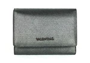VALENTINO MARILYN Medium Wallet Anthrazit, Damen-Geldbörse Portemonnaie Wallet