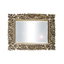 NEW  RECTANGLE WALL MIRROR SHABBY CHIC MIRROR GOLD TIMBER FRAME 102 x 131 cm