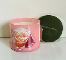NEW! BATH & BODY WORKS 3-WICK SCENTED CANDLE - ROSE WATER & IVY - SALE