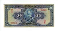 20 Mil Reis Brasilien 1942 R110d / P.48d - Brazil Banknote