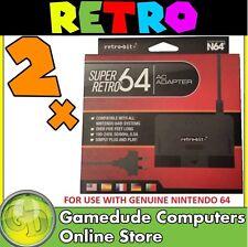 2x Retro-bit Super Retro64 Replacement AC Adapter 5ft MODEL : 061015 0528206 F03