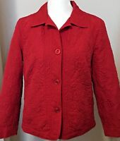 Womens Red Large Jacket R.Q.T. Lightweight Quilted Fully Lined Jacket
