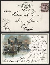 GB 1899 - Postcard St Pauls to Brussels Belgium MM6