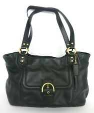COACH BLACK LEATHER CAMPBELL BELLE CARRYALL HANDBAG F1381-F24961