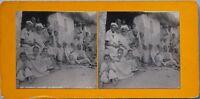 Argérie Davant Una Moschea Foto Stereo PL47 Vintage Analogica c1900