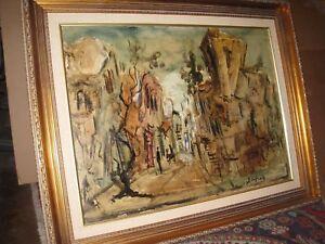 Beautiful Original Zvi Raphaeli Oil Painting Jewish Israeli Listed Artist
