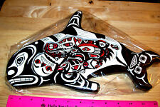 Totemic Tribal Orca Wood Puzzle with 6 pieces beautiful hand painted! 12 x 7