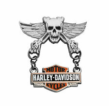 HARLEY DAVIDSON Skull Wings with Trademark B&S Dangler Pin