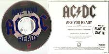 "AC/DC ""Are You Ready?"" US Promo CD Hardrock"