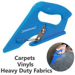 Carpet Cutter Vinyl Cutting Tool Underlay Fitting Trimmer Scissors Leather Lino