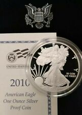 2010-W Silver American Eagle Proof 1oz.Coin.Deep Cameo Contrast, Frosty Reliefs!