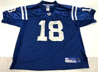 Reebok NFL Equipment Peyton Manning #18 Indianapolis Colts Blue Jersey Size 48