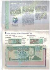 Fiji Commemorative Banknote with Folder AUNC 2000 斐济纪念钞