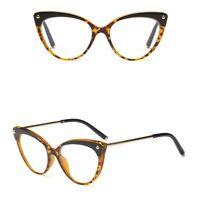 Cat Eye Glasses Frame Women Computer Spectacle Optical Eyeglass Transparent Lens