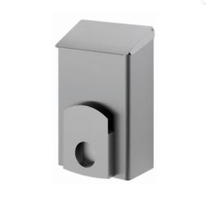 Hygiene-Abfallbehälter Abfalleimer Edelstahl silber 7 l Hygienebeutel-Halterung
