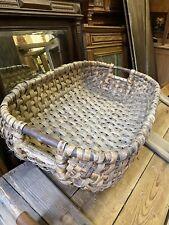 More details for french vintage large wicker harvest basket