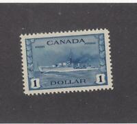 CANADA (MK3440) # 262 VF-MVLH  $1 1942 RCN DESTROYER TRIBAL CLASS CAT VAL $100