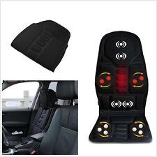 12V Autos Office Seat Chair Heated Cushion Pad Massager Neck Pain Lumbar Pillow