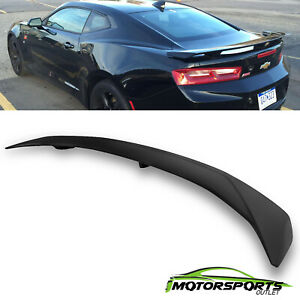 For 2016-2021 Chevy Camaro RS SS ZL1 3-POST ABS Rear Trunk Spoiler Matte Black