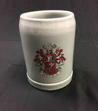 Beck's German Beer Stoneware Mug Excellent Condition
