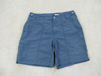 Columbia Shorts Womens Small Blue Cargo Fishing Outdoors Hiker Hiking Ladies B2*