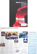 Mazda 626 2.0 Comprex Diesel 1994 Original UK Sales Brochure Pub. No. MCAG 1051