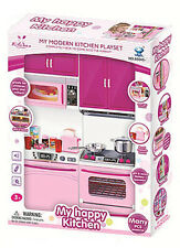 Kitchen Play Set For Barbie Doll House Furniture Cooking Toddler Girls Cocina