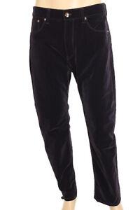 GIORGIO ARMANI for BUGATTI LIMITED EDITION Men's Velvet Pants size 33 Navy blue