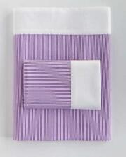 Ralph Lauren FAIRVIEW Purple Stripe White Border KING Flat Sheet NIP MSRP $185