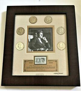 FRANKLIN MINT JFK FRAMED HALF DOLLAR ANNIVERSARY COLLECTION