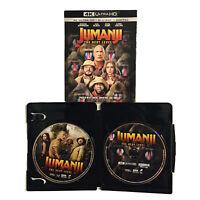 Jumanji The Next Level 4K UHD Blu-ray Slipcover The Rock Jack Black No Digital