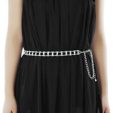 Silver Diamante/Diamond Ladies Waist Chain/Charm Belt - One Size Fits All - 284