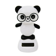 Solar Power Dancing Figures Cute Panda,Novelty Desk Car Toy Ornament