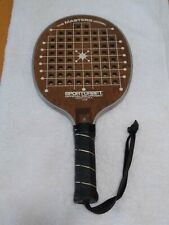 Vintage Sportcraft The Masters Model 13168 Wood Leather Paddle Racquet Usa
