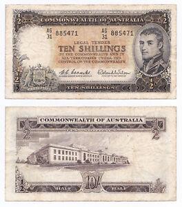 Australia, 10 Shillings 1961-65, Pick 33a, F/VF