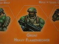 Corvus Belli Infinity Grunts Ariadna Grunt Heavy Flamethrower USAriadna metal