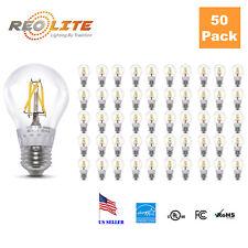 50 Pack Edison A19 Bulb 4W LED Filament Light Bulbs 40W Equivalent 360 Lumens