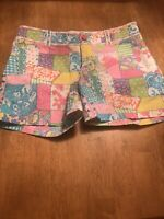 Women Lilly Pulitzer Loco Patch Palm Beach Fit Shorts Size 2