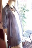 Fernanda Oversized Cardigan with Silk Layer