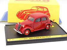 Brumm 1/43 - Simca 8 Salon de Paris 1938 Rouge