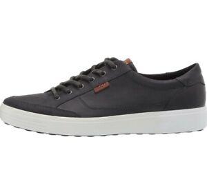 ECCO Soft 7 Long Lace Sneaker Magnet Oil Nubuck EU 45 Men's 11 -11.5 US New