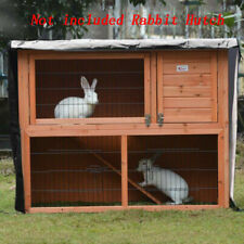 Pets Bunny Rabbit Ferret Chicken Coop Hutch House Cage Enclosure With Cover Roof