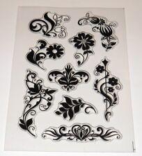 Floral Flourish Stamps - Mixed Media, Grunge, Texture - BNIP - Free P & P